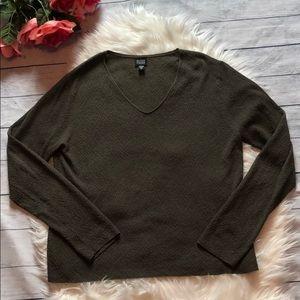 Eileen Fisher Italian Yarn V-neck Sweater